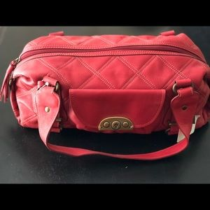 Fossil leather handbag, red, NWT